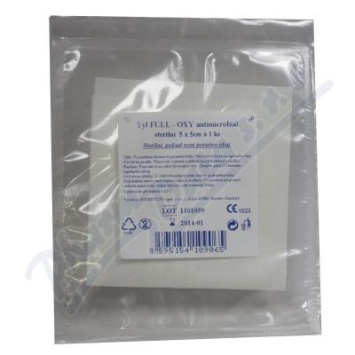 Krytí na rány Tyl Full oxy antimicrobial 5x5cm/1ks