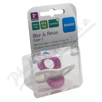 MAM Kousátko Bite & Relax Fáze1přední zoubky 2+m.