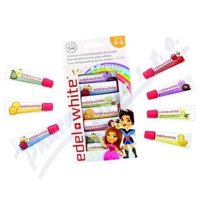 EDEL+WHITE zubní pasty ovocné pro děti 7x9.4ml