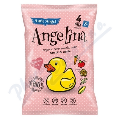 Bezlepkový snack BIO Angelina pro děti 4x15g