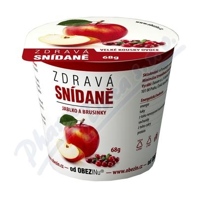 Zdravá snídaně od Obezinu jablko a brusinky 78g