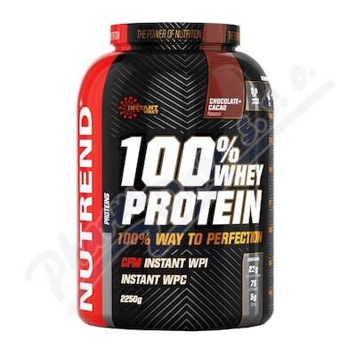 NUTREND 100% Whey Protein čokoláda+kakao 2250g