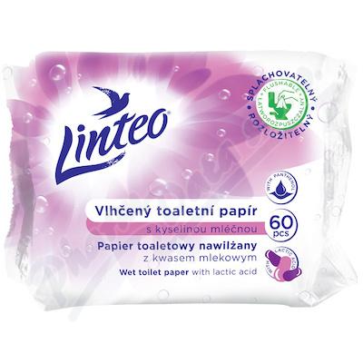 Vlhčený toaletní papír LINTEO s kys.mléčnou 60ks