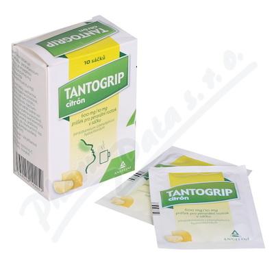 Tantogrip citrón 600mg/10mg por.plv.sol.scc.10