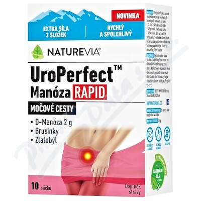 NatureVia UroPerfect Manóza Rapid 10 sáčků
