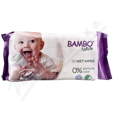 Bambo Nature dětské vlhčené ubrousky 50ks
