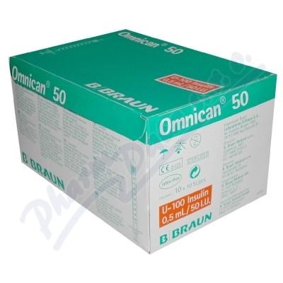 Inj.střík.ins.0.5ml/50 IU OMNICAN 100ks 9151125