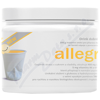 allegra DRINK NEW 200g instantní směsi -pomeranč