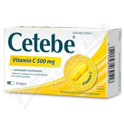 Cetebe vitamin C 500mg cps.30