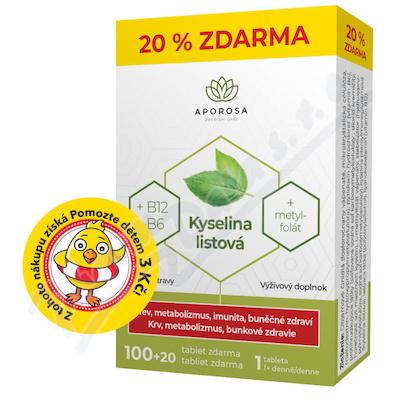 APOROSA Kyselina listová+B12+B6 tbl.100+20