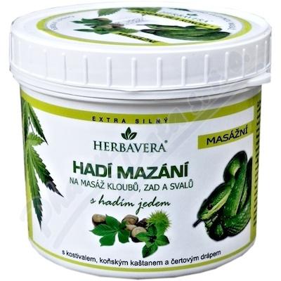 Hadí mazání s konopím HERBAVERA 500ml