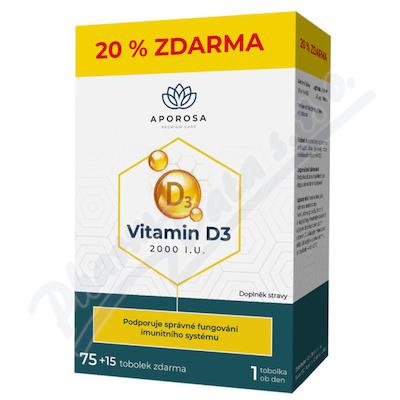 APOROSA Vitamin D3 2000I.U. tob.75+15