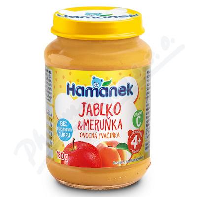 Hamánek Jablko+meruňka bez přid.cukru 180g 4m+