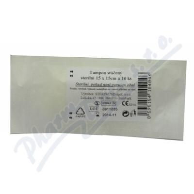 Tampón stáčený z gázy steril.15x15/10ks Steriwund