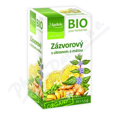 Apotheke BIO Zázvor s citronem a mátou čaj 20x1.5g