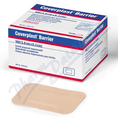 Coverplast Barrier 6.3x3.8cm 100ks voděod.hyp.nápl