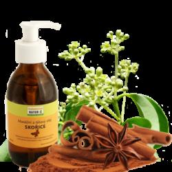 Masážní a tělový olej SKOŘICE 200ml