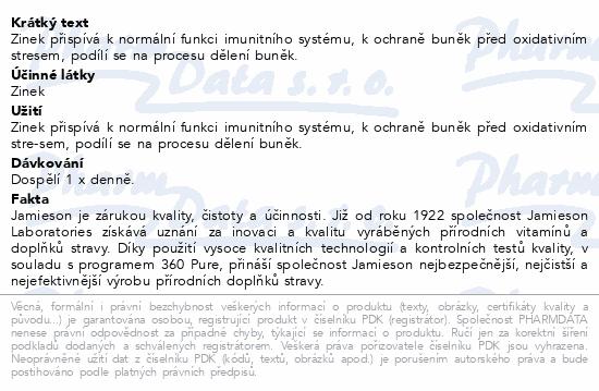 JAMIESON Zinek 10mg tbl.100