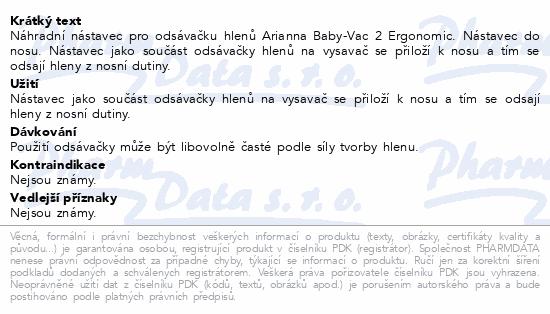 Arianna Baby-Vac 2 Ergonomic Náhradní nástavec