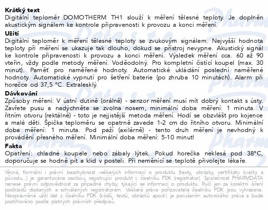 Teploměr lékařský digitální DOMOTHERM TH1 COLOR