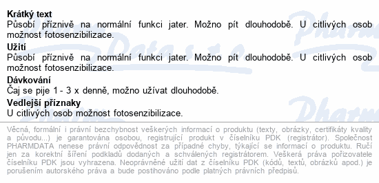 Grešík Devatero bylin Jaterní čaj n.s.20x1g