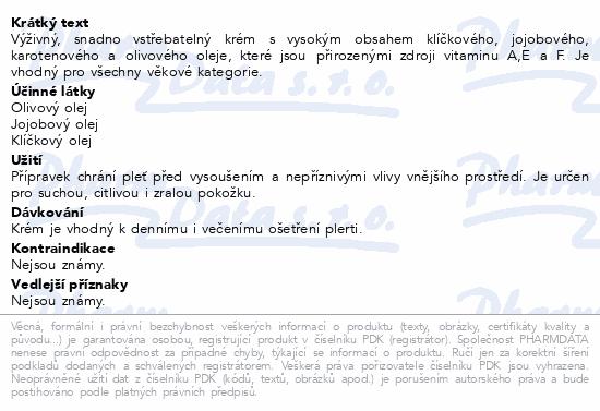 RYOR Suchá citl.pleť Výž.krém s přírod.oleji 50ml