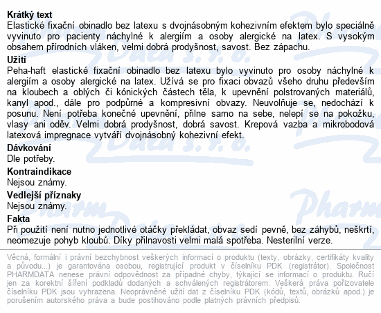 Obin. fixační kohes.PEHA-HAFT Latex free 6cmx4m