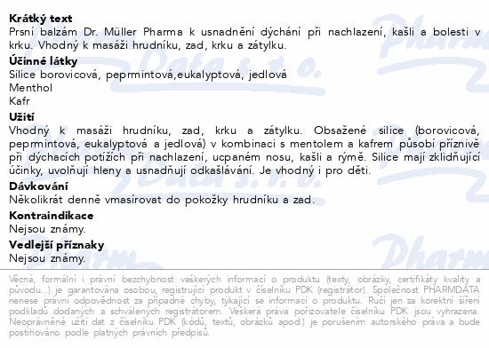 Prsní balzám 50ml Dr.Müller