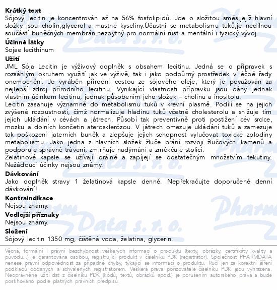 JML SójaMax Lecitin želatinové cps. 104x1350mg