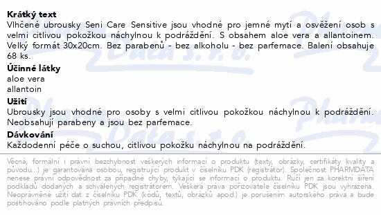 Seni Care Vlhčené ubrousky Sensitive 68 ks