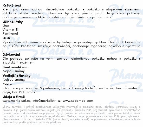 SEBAMED Urea regenerační kr.na nohy 10% urea 100ml
