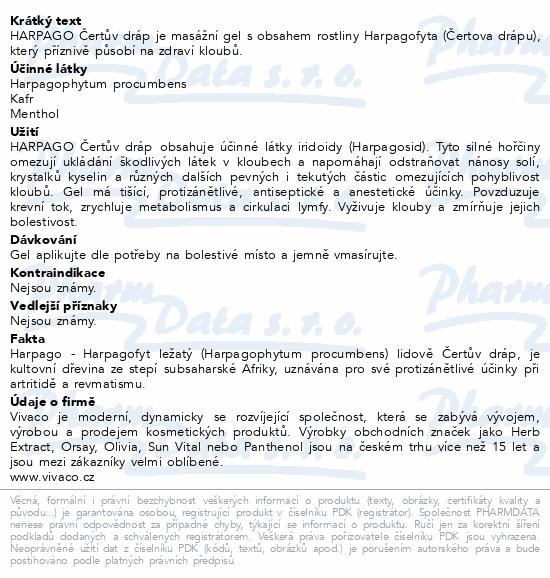 HARPAGO Čertův dráp masážní bylinný gel 250ml