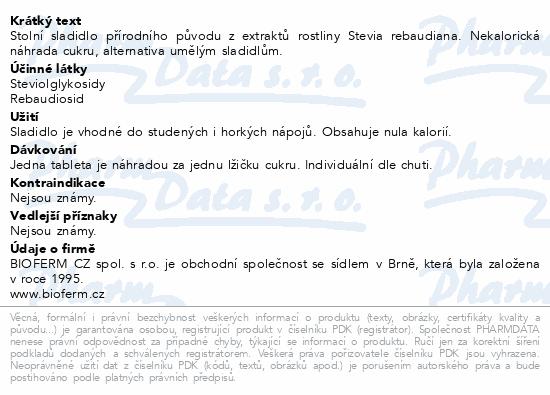 Stevia Natusweet tablety tbl.300