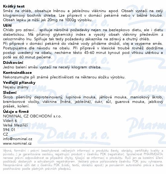 BLP Rustikální chléb s vlákninou Pro zdraví...500g
