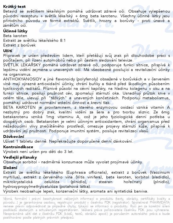 NATURVITA BETAVID se světlíkem lékařským tbl.60