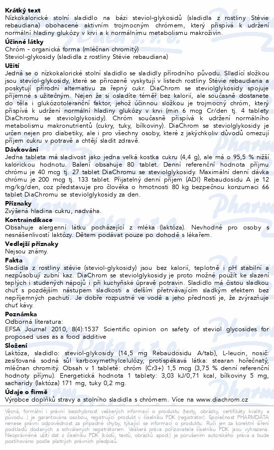 DiaChrom se steviolglykosidy tbl.80