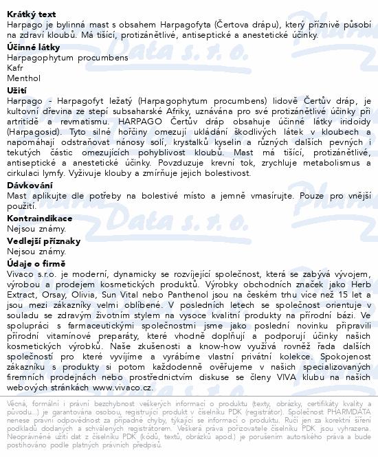 HARPAGO Čertův dráp regenerační mast 125ml