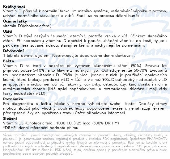 NatureVia Vitamin D3-Efekt 1000 IU tbl.90