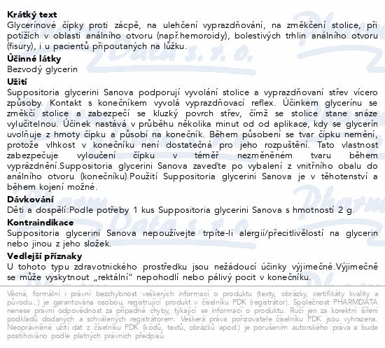 SUPP.GLYCERINI SANOVA Glycer.čípky Classic 2g 10ks