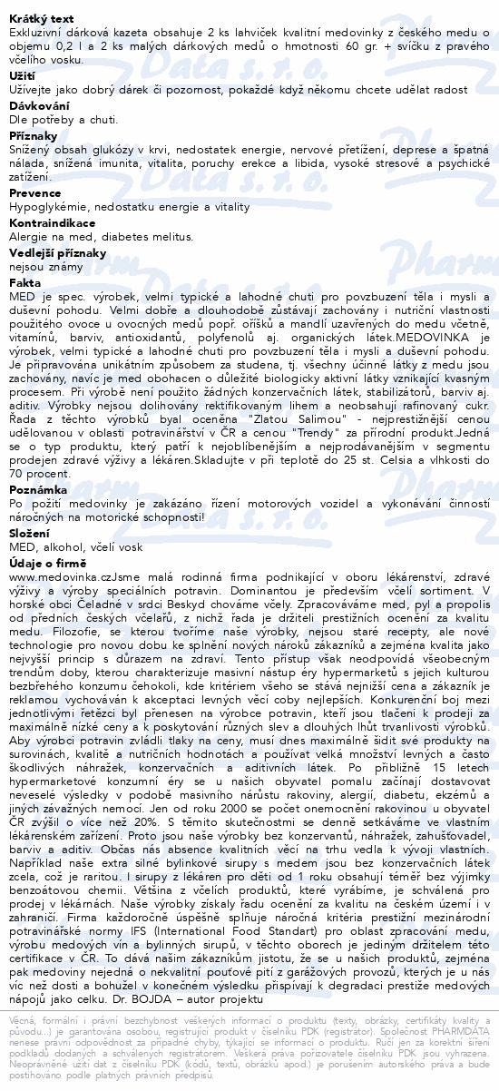 Dárková kazeta 0.2 l a Med 60g +svíčka Dr.Bojda