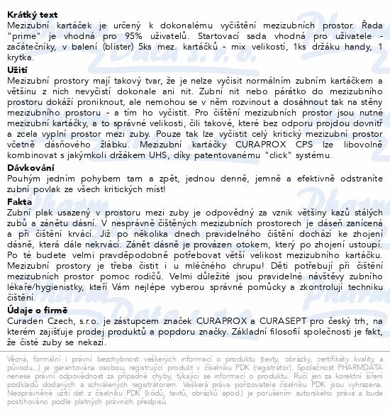 CURAPROX CPS 06-011mix prime+handy mezizub.5ks Bl.