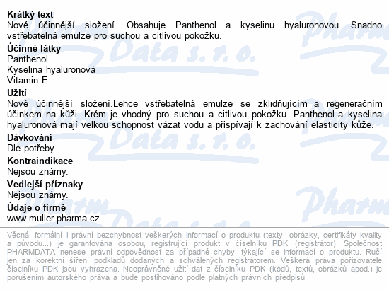 Panthenol HA krém 7% 30ml Dr.Müller