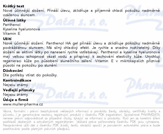 Panthenol HA gel 7% 100ml Dr.Müller