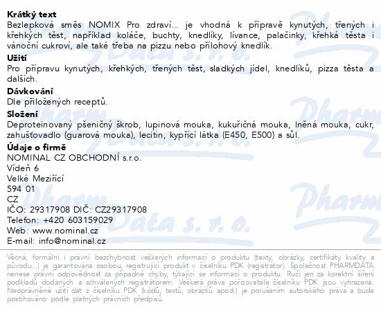 BLP Směs na těsta NOMIX Pro zdraví... 500g