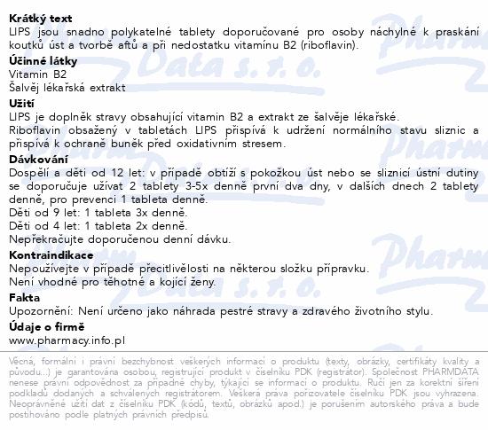LIPS tablety - koutky a afty tbl.30