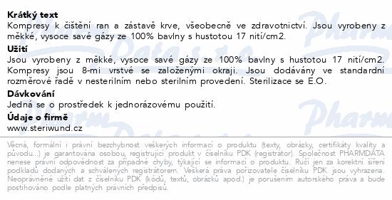 Gáza hydr.kompr.ster.7.5x7.5cm/5ks Steriwund