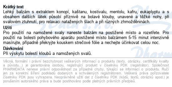 CANNABIS Kostival bylin.balz.s Kaštanem koň.300ml