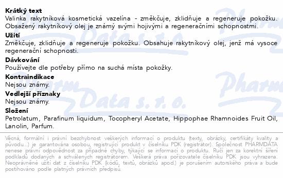 Vazelína rakytníková kosmetická Valinka 50ml