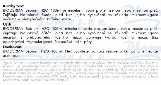 BIODERMA Sébium H2O 100 ml
