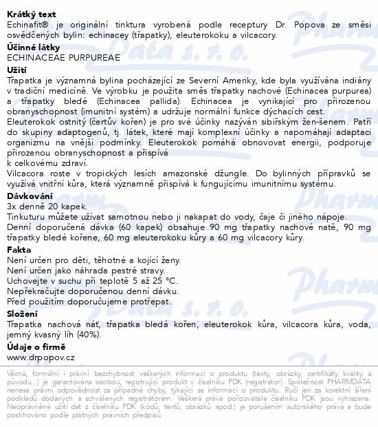 Dr.Popov Kapky bylinné Echinafit imunita 50ml